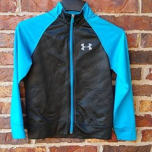 Under Armour black & blue loose fit youth jacket